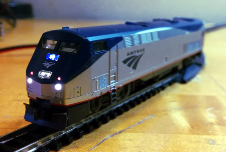Kato N scale P42 locomotive with improved lights and sounds