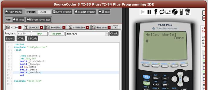 SourceCoder 3 RC 1: TI-84+CE C Programming, More - Cemetech   Forum