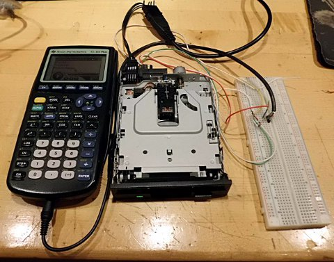 Calculator floppy drive music
