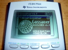 Gossamer 1.0 Calculator Web Browser screenshot