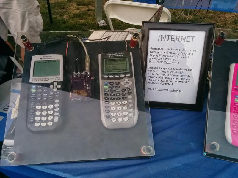 internet connected calculators interactive calculators with math and science programs and games calculators playing music with speakers and a floppy