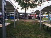 The beginning of setup on Friday evening