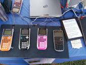 Calculators for visitors to try out.
