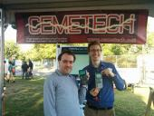The great Patrick Davidson with his TI-85 at Maker Faire