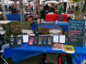 One side of our display, with connected calculators and more.