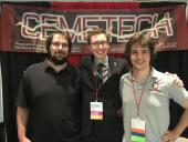 At the Cemetech booth with Jon and Thomas.