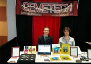 Cemetech's booth, with Kerm and Elfprince.