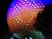 Arriving at Epcot with Elfprince, Jonimus, and Jonimus's girlfriend on Saturday night.