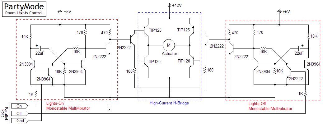 Room light actuator schematic